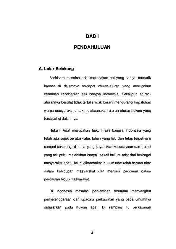 Doc Bab I Pendahuluan Hukum Adat Muhamad Alfian Academia Edu