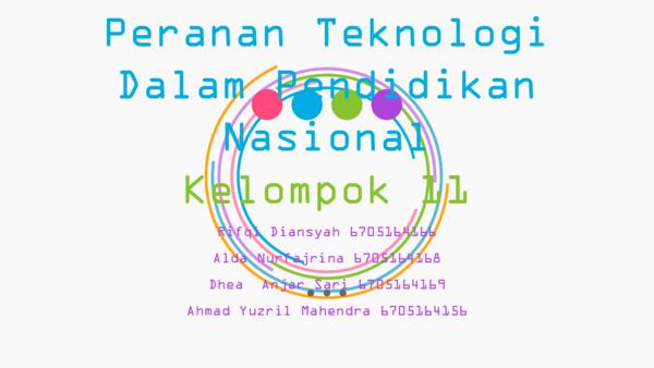 Ppt Peranan Teknologi Dalam Pendidikan Nasional Dhea Anjar Sari Academia Edu