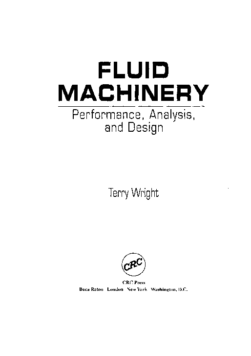 PDF) FLUID MACHINERY Performance, Analvsis, and Design | freddy