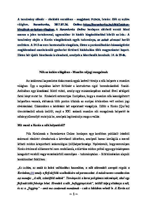 Anális szex feleséggel iszlámban