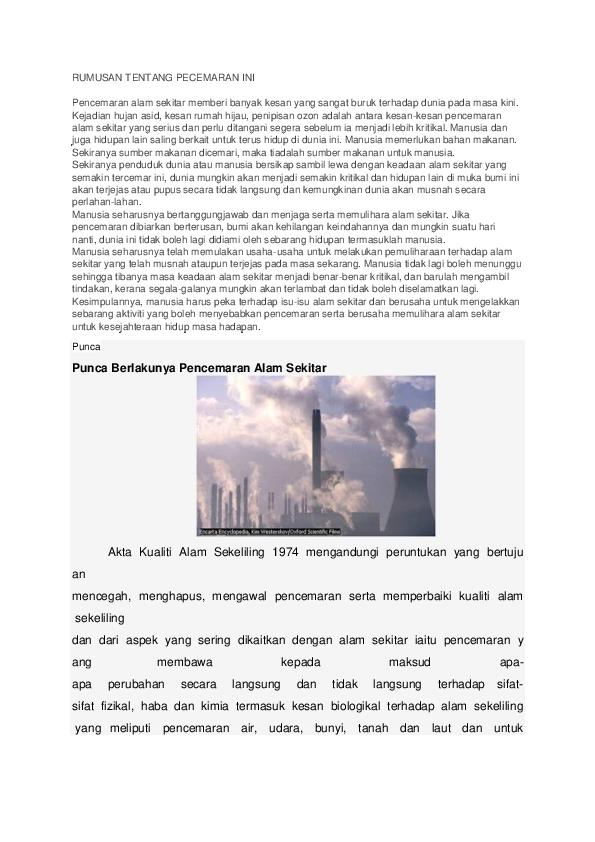 Doc Punca Pencemaran Oleary Merang Skarcer Academia Edu