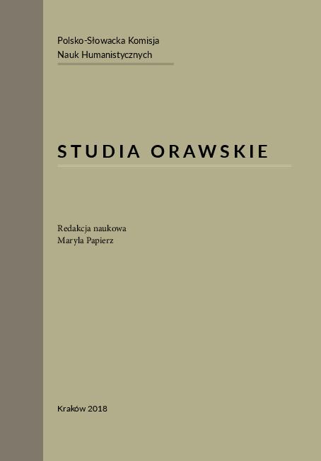Pdf Studia Orawskie Red Naukowa Maria Papierz Kontakty