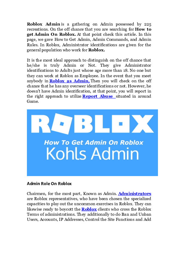 Free Admin Commands Roblox Download Doc Add Admin On Roblox Sa Sadhana Academia Edu