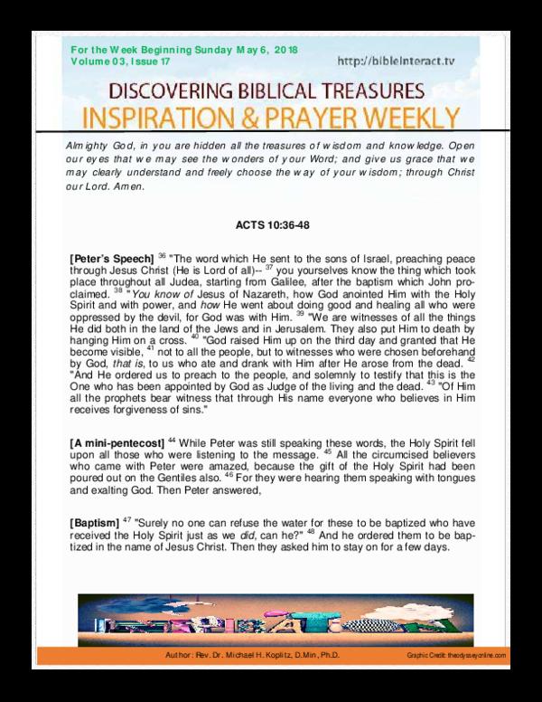 PDF) Volume 03 Issue 17 - Acts 10-36-48 pdf   Michael Koplitz