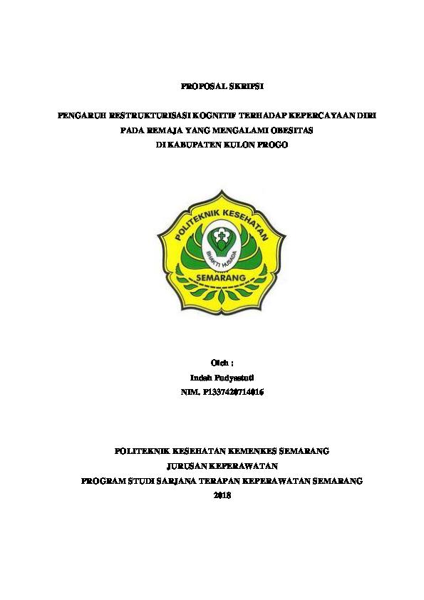 Doc Proposal Skripsi Indah Pudyastuti Academia Edu