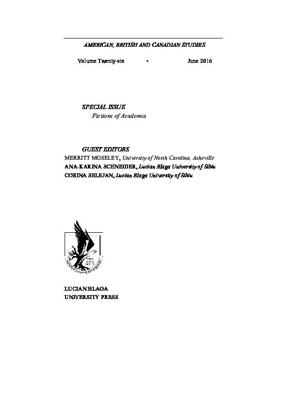 Pdf American British And Canadian Studies Vol 26 Fictions Of Academia American British And Canadian Studies Journal Ana Karina Schneider And Corina Selejan Academia Edu