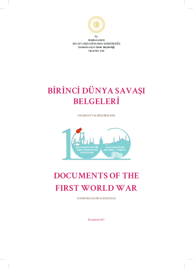 PDF) 'India – Turkey & the First World War: A Glimpse of the