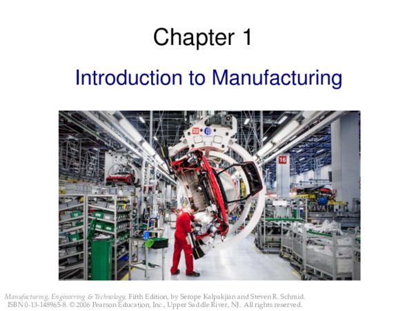 PDF) Introduction to Manufacturing | Dan Sade - Academia edu