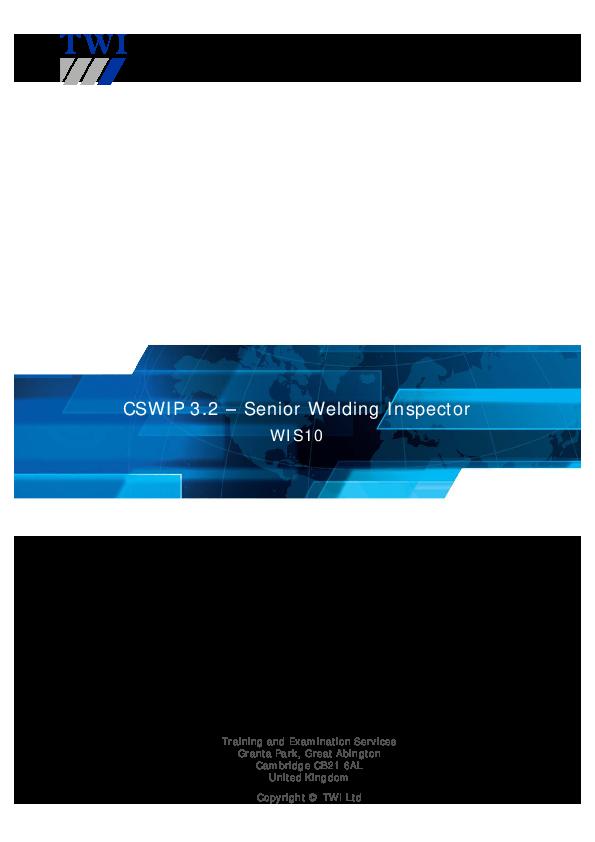 PDF) CSWIP 3 2 – Senior Welding Inspector WIS10 | emad ali