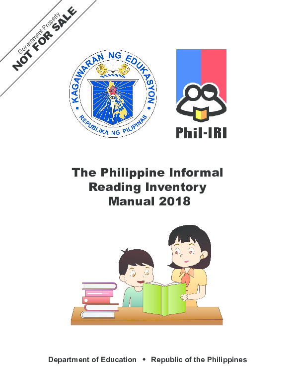 PDF) The Philippine Informal Reading Inventory Manual 2018