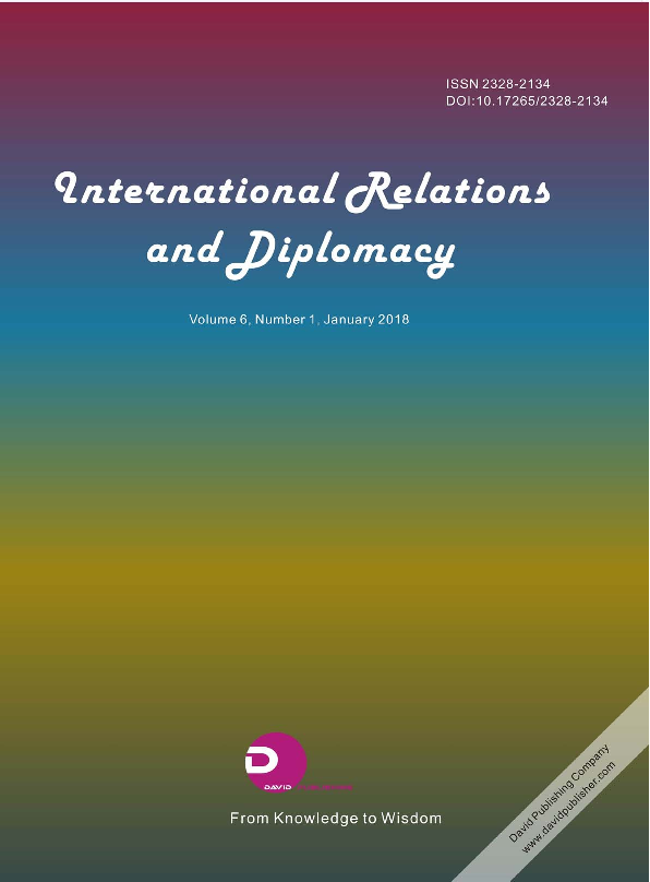 PDF) International Relations and Diplomacy (ISSN 2328-2134) Volume ...