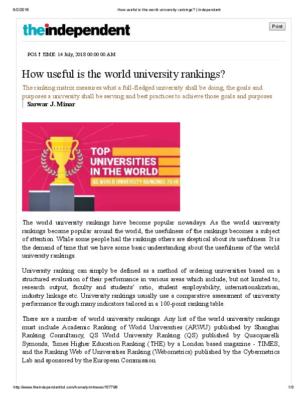 PDF) How useful is the world university rankings? __ The
