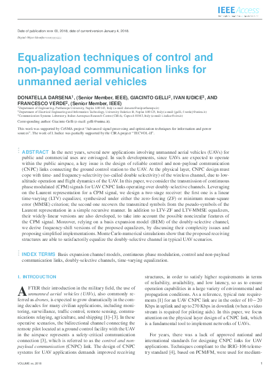 PDF) Equalization techniques of control and non-payload