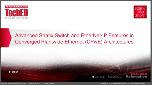 PDF) Advanced Stratix Switch and EtherNet/IP Features in