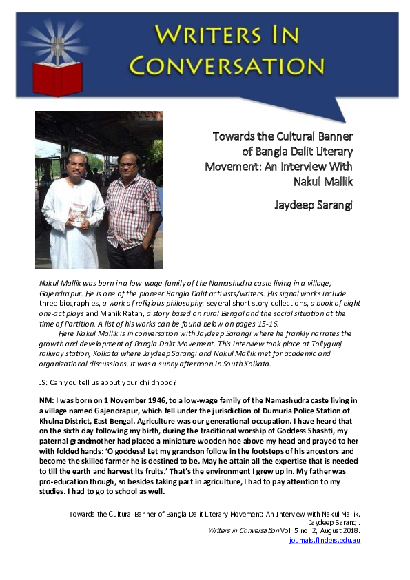 PDF) DALIT INTERVIEW pdf | Jaydeep Sarangi - Academia edu