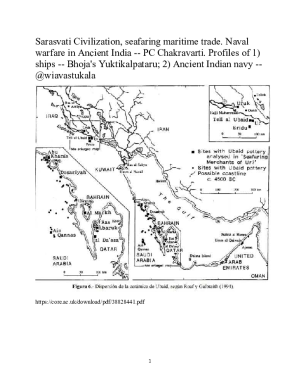 PDF) Sarasvati Civilization, seafaring maritime trade  Naval
