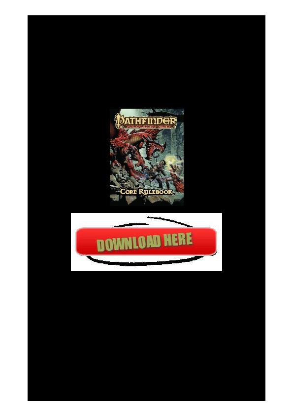 PDF) Pathfinder Roleplaying Game Core Rulebook | Hosburn
