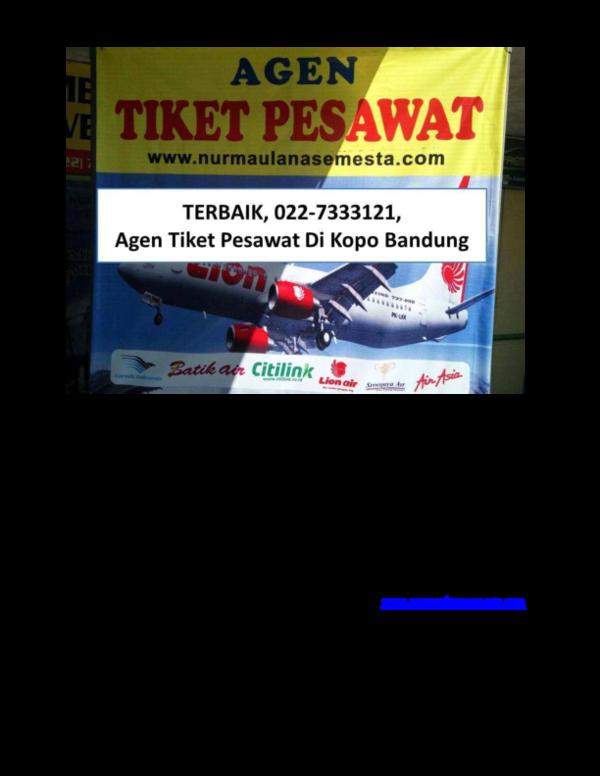 Pdf Terbaik 022 7333121 Agen Tiket Pesawat Di Kopo