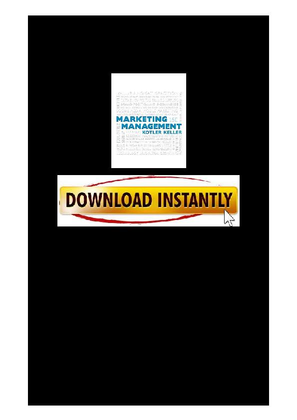 Marketing Management Kotler Keller Pdf