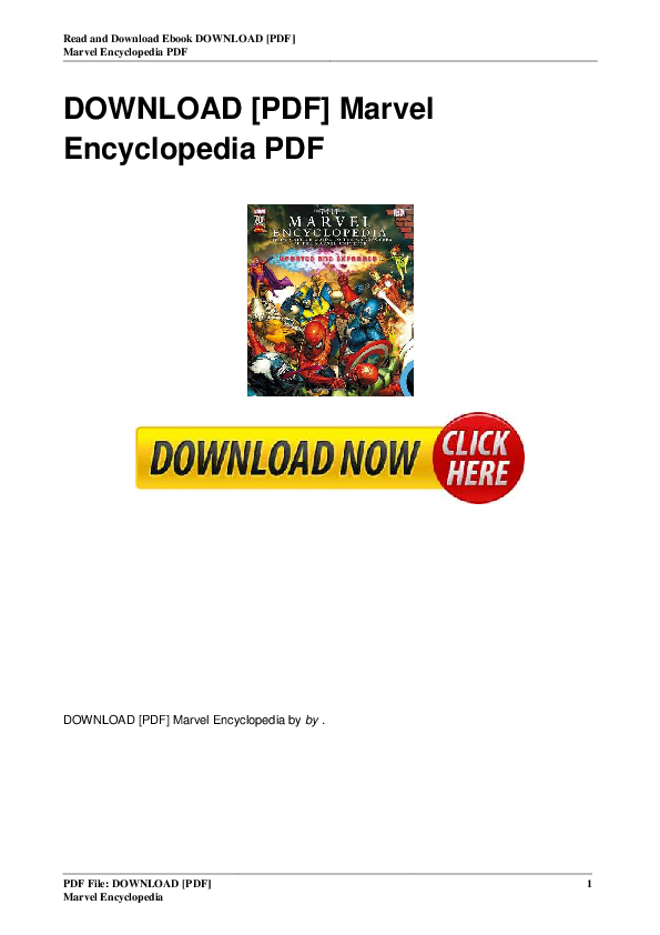 PDF) [Marvel Encyclopedia] | Gabriel Mauldon - Academia edu