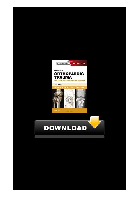 Orthopaedics pdf mcrae