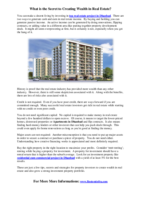PDF) What is the Secret to Creating Wealth in Real Estate