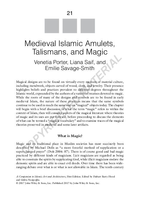 PDF) Amulets, Magic, and Talismans   Liana Saif - Academia edu