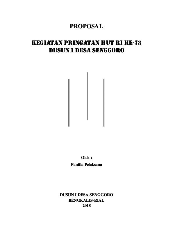 Doc Contoh Proposal 17 Agustus Ulil Amri Academia Edu