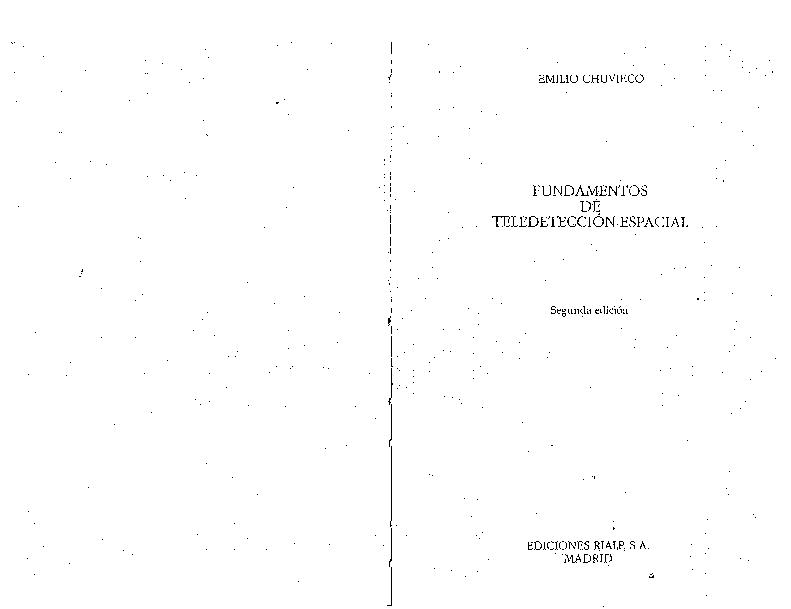fundamentos de teledeteccion espacial chuvieco