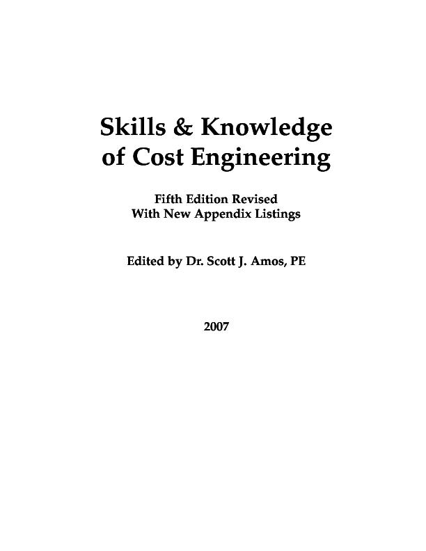 PDF) AACE Cost Engineering | eduardo rodriguez - Academia edu