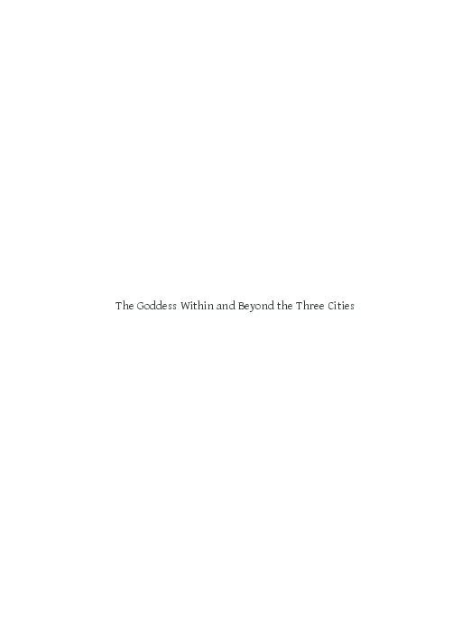 PDF) The Goddess Within and Beyond the Three Cities: Shakta
