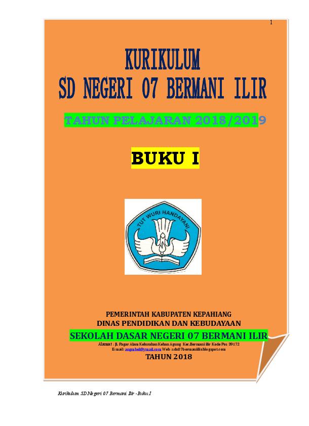 Doc Kurikulum K13 Sdn 07 Bi 2018 2019 Doc Ivan Romianda Academia Edu