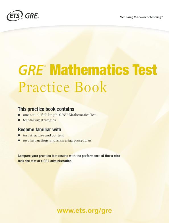 PDF) GRE ® Mathematics Test Practice Book Become familiar