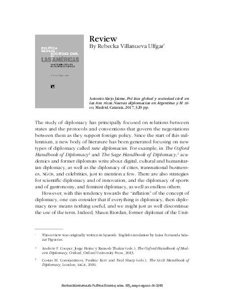 PDF) Political Global y Sociedad Civil en las Américas