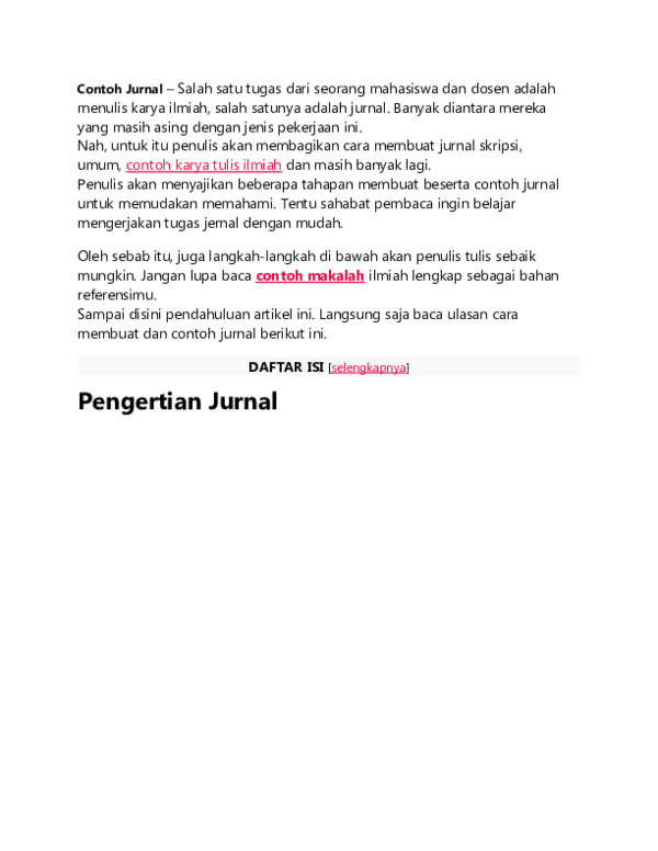 Doc Contoh Jurnal Doc Murtaqiah Sholihat Academia Edu