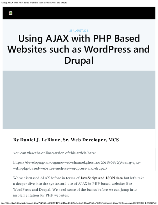 As php pdf webpage