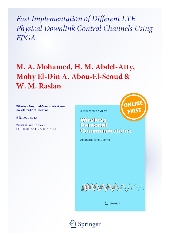 PDF) Fast Implementation of Different LTE Physical Downlink