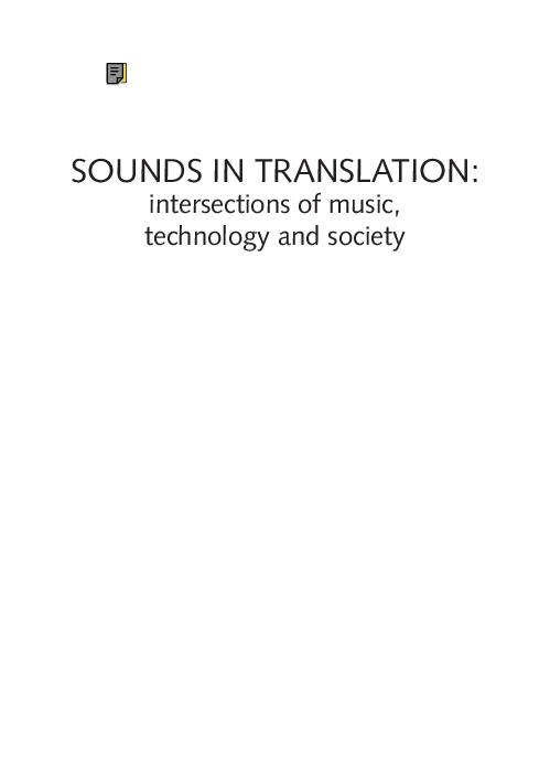 PDF) Sounds in Translation--Intersections of Music
