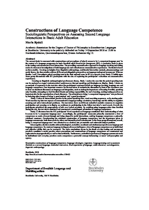PDF Constructions of Language petence pdf