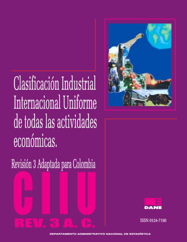 685081c65edf8 PDF) CLASIFICACION INDUSTRIAL DE LAS ACTIVIDADES ECONOMICA