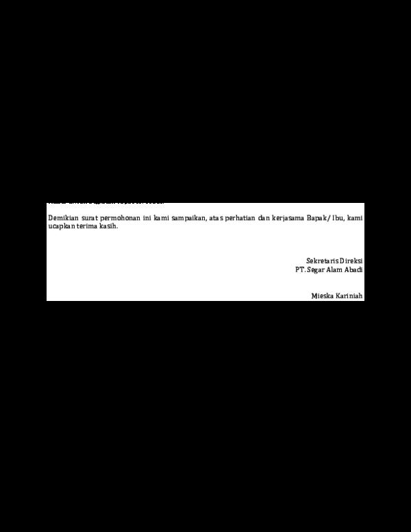 Doc Contoh Surat Permohonan Izin Menggunakan Tempat Hari Chai Academia Edu