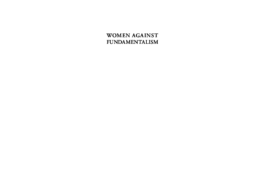 Pdf The Enemy Of My Enemy Is Not My Friend Women S Rights