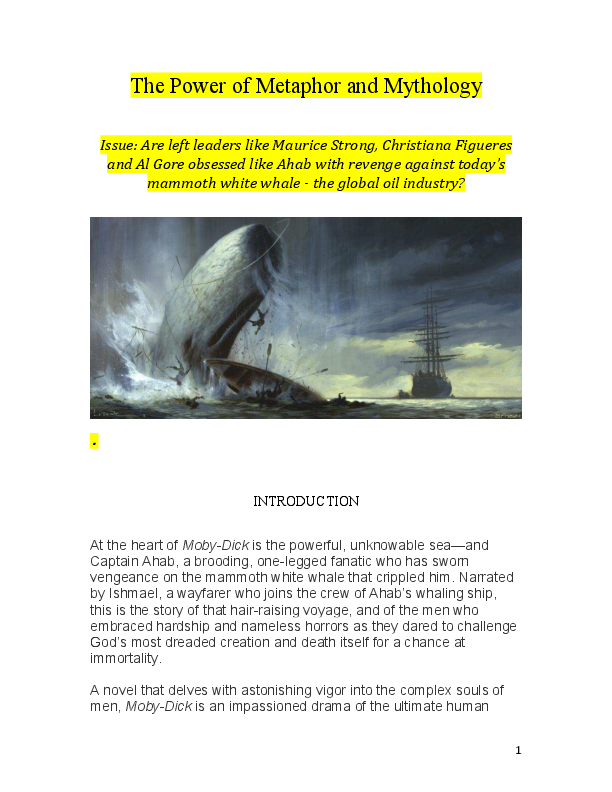 captain ahab character analysis