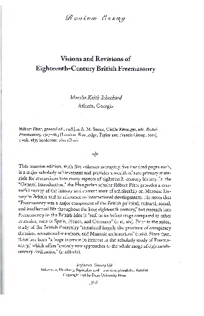 PDF) Visions and Revisions of Eighteenth-Century British