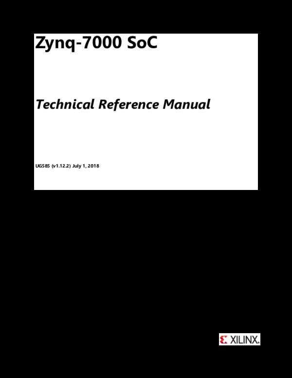 PDF) Zynq-7000 SoC Technical Reference Manual   Nirav Parmar