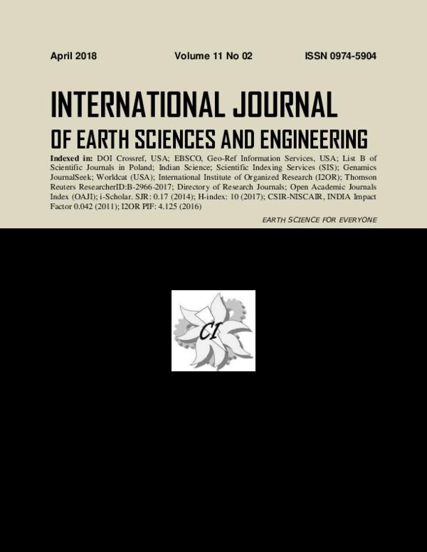 PDF) International Journal of Earth Sciences&Engineering