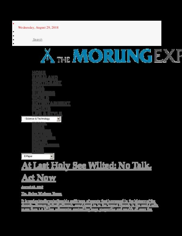 Wednesday Mourung Express Aug 29 18 my article pdf | JOHN