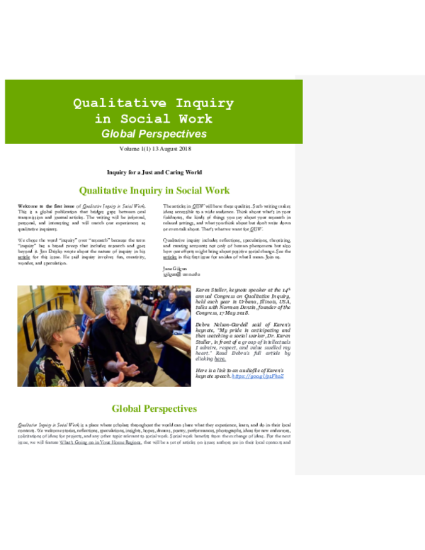 DOC) QISW 1(1) August 2018 final 8 9 18 docx | Jane Gilgun