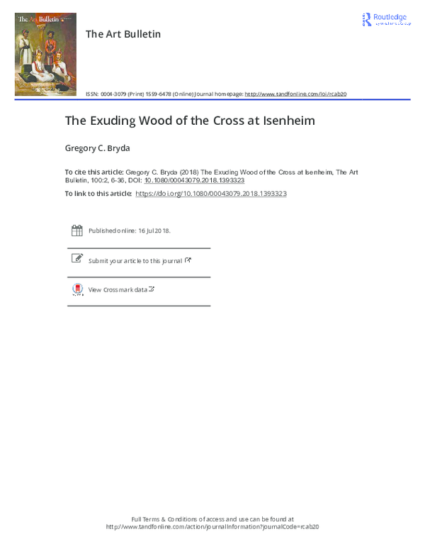 PDF) The Exuding Wood of the Cross at Isenheim | Gregory