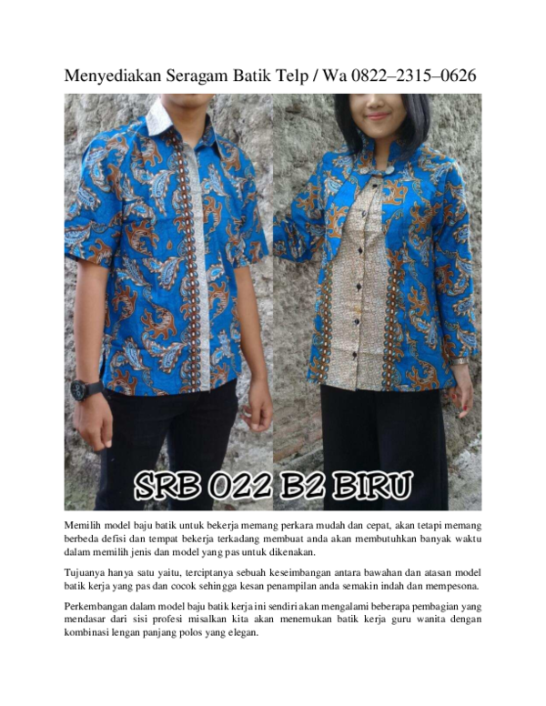 Pdf Jual Seragam Batik Fatayat Telp Wa 0822 2315 0626
